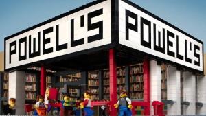 La storica libreria Powell's per promuovere una svendita sui libri dedicati a LEGO, ha realizzato un modello tutto in mattoncini.