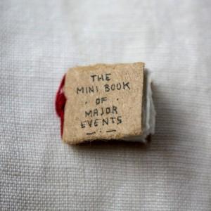 L'ideatore di The Mini Book of Major Events si chiama Eva Lorenzen, fa l'illustratore e un bel giorno ha deciso di creare un libro sui più importanti eventi della storia della Terra, ma lo ha fatto in un libro grande quanto un nichelino: santa pazienza!