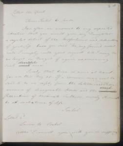 Uno dei tre quaderni con gli scritti giovanili di Jane Austen, risalente al 1790-1793.