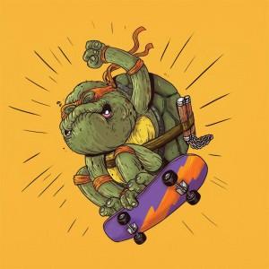Michelangelo delle Tartarughe Ninja è tornato! Anche se sembra un po' acciaccato...