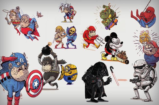 super eroi vecchi