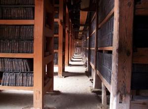 La biblioteca del Tempio Haeinsa si trova nella Corea del Sud, all'interno di un tempio che ospita le famose scritture buddiste Tripitaka Koreana. (Photo Credits @ Mark DeMaio / Flickr - Creative Commons)
