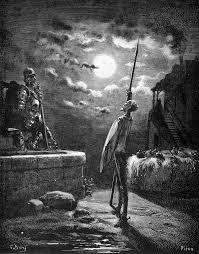 Don Chisciotte sfida il cavaliere Bianca Luna