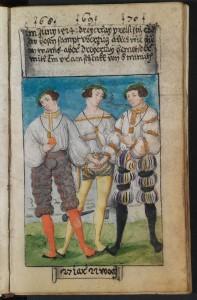 La figura nell'immagine è sempre Schwarz, con tre diversi outfit estivi.