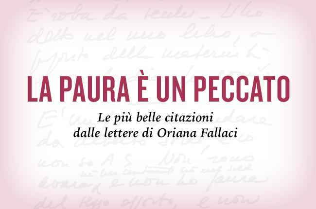 La paura è un peccato, di Oriana Fallaci