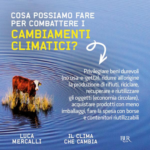 cambiamenti climatici cosa fare