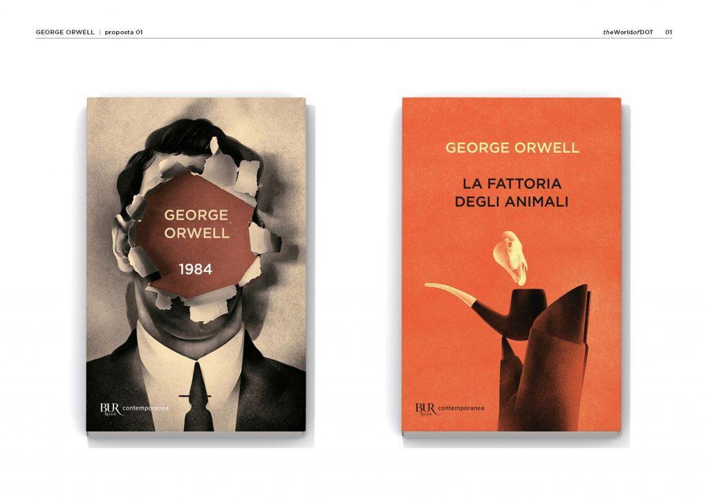 prove di copertina George Orwell BUR
